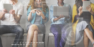 Technology Connection Online Networking Medias Concept Stock Photos