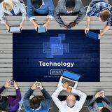 Technology Connection Online Networking Medias Conpt Royalty Free Stock Photography
