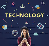 Technology Connection Online Sharing Multimedia Concept Stock Images