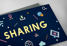 Technology Connection Online Sharing Multimedia Concept Royalty Free Stock Photos