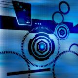 Technology Connectivity. Futuristic illustration depicting technology and connectivity Stock Photography