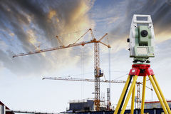 Technology and construction industry Stock Photo