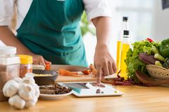 Technology and cooking concept Royalty Free Stock Images