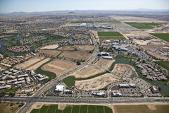 Technology Corridor. Aerial view of Technology headquarters in Chandler, Arizona stock photos