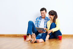 Technology couple Royalty Free Stock Photography