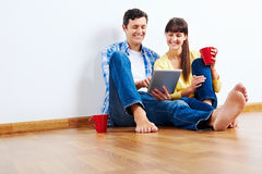 Technology couple Stock Images