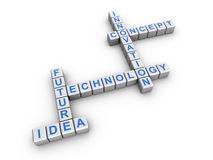 Technology crossword Royalty Free Stock Photography