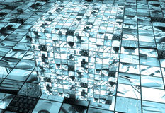 Technology cube Stock Photo