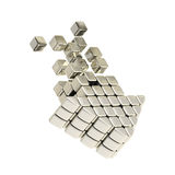 Technology cube arrow silver emblem icon Royalty Free Stock Photos