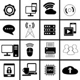 Technology and data icon for life in symbols set Royalty Free Stock Photos