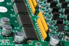 Technology and development ultrasound device. Stock Photos
