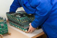 Technology and development ultrasound device. Royalty Free Stock Photo