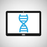 Technology device health genetics concept. Vector illustration eps 10 Royalty Free Stock Images