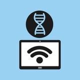 Technology device health genetics concept. Vector illustration eps 10 Royalty Free Stock Image