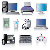 Technology Device Icons Royalty Free Stock Photography