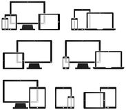 Technology Device Symobls. Technology Device Symbols and mobile devices Stock Image