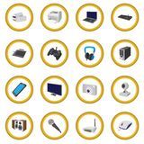 Technology and devices cartoon icon circle Stock Image