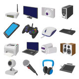 Technology and devices cartoon icons set Royalty Free Stock Photos