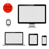 Technology devices and electronic gadgets with transparent screen Stock Photo