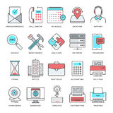 Technology and Devices Flat Line Icon Set Stock Images