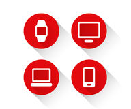 Technology devices icon set Royalty Free Stock Images