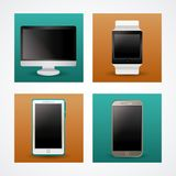 Technology devices icons. Icon vector illustration graphic Royalty Free Stock Photo