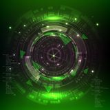Technology digital background, green sci fi scientific design tech innovation concept . Technology digital background, green sci fi scientific design tech royalty free illustration