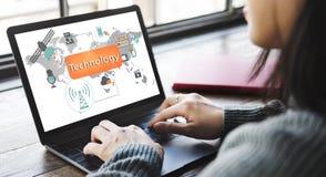 Technology Digital Evolution Innovation Concept Stock Images