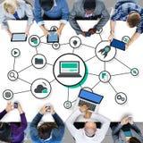 Technology Digital Share Media Link Concept Stock Photo