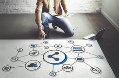 Technology Digital Share Media Link Concept Stock Image