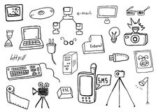 Technology doodles Stock Photography