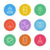Technology , dsish , antenna , house , Ecology , eco , icons , w. Technology , dsish , antenna , house ,Ecology , eco , icons , weather , enviroement , icon royalty free illustration