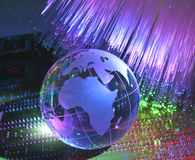Technology earth globe Stock Images