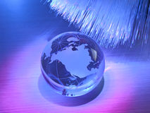 Technology earth globe Royalty Free Stock Images