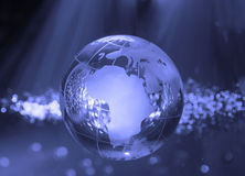 Technology earth globe Royalty Free Stock Photo