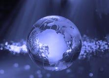 Technology earth globe royalty free stock photo
