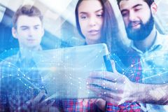 Technology and economy concept stock photography