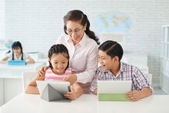 Technology and education Royalty Free Stock Photos