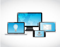 Technology electronics and business illustration Royalty Free Stock Photos