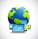 Technology electronics and Globe Royalty Free Stock Photo