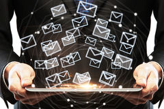 Technology and email marketing concept Stock Image