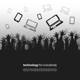 Technology for Everybody - Design Concept Royalty Free Stock Photo