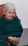 Technology is for everyone. Close-up image of a senior woman using a laptop Stock Images