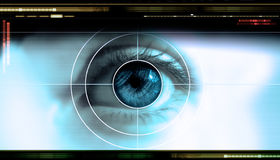 Technology eye royalty free stock images