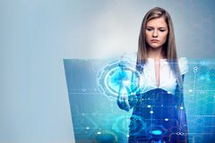 Technology and finance concept Royalty Free Stock Image