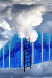 Technology firewall and cloud concept Royalty Free Stock Photos