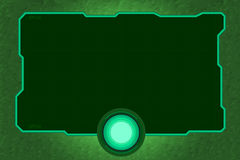 Technology frame green tone Royalty Free Stock Image