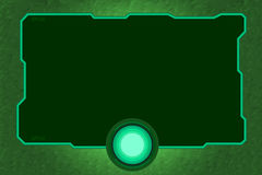 Technology frame green tone. Technology frame green color tone Stock Photos