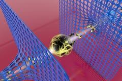 Technology of the future. Nanotechnology Royalty Free Stock Image