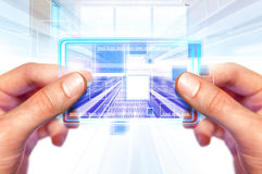 Technology of future in hands Royalty Free Stock Photography